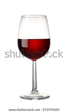 Red wine on white background - stock photo
