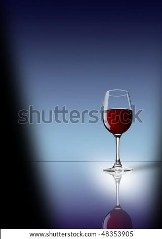 red wine original elegant - stock photo
