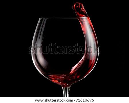 Red wine plash - stock photo