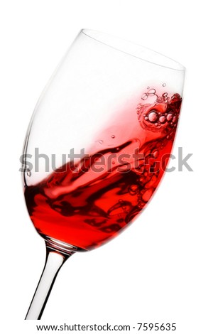 red wine spinning in a glass