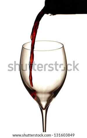 Red wine starts in the glass - stock photo