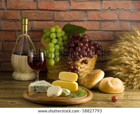 Red wine still-life - stock photo
