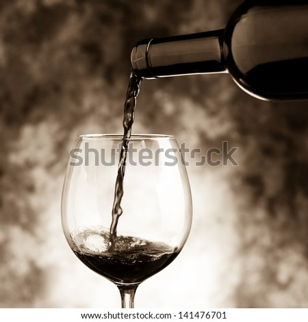 red wine tasting - stock photo