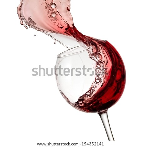 Red wine up - stock photo