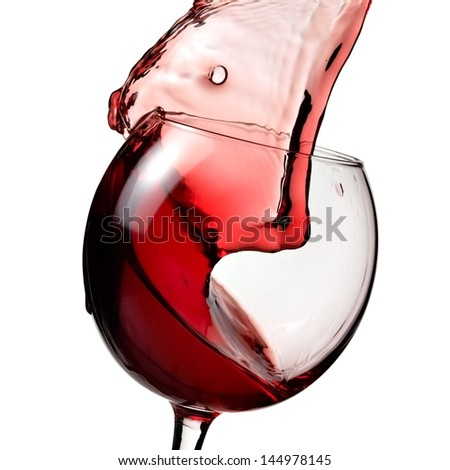 Red wine up, close up - stock photo