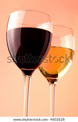 red wine white and glass