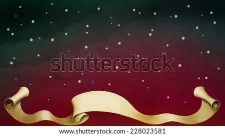 Red winter background - stock photo