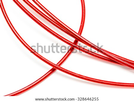 red wire on a white background