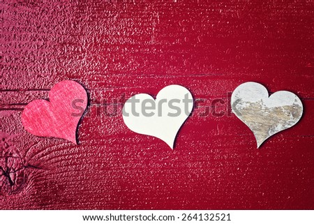 red wood background - your text here - stock photo