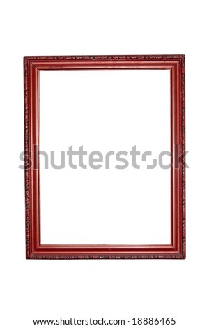 Red wood Picture Frame - stock photo