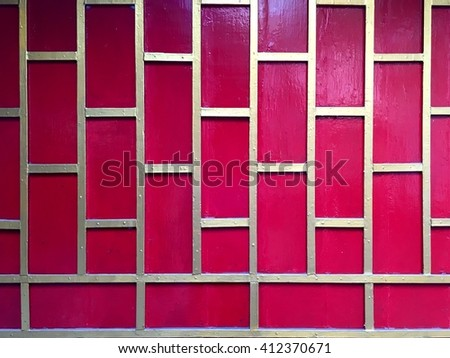 Red wood wall, abstract background. - stock photo