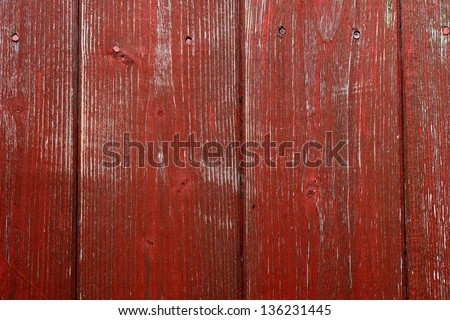 Red wooden background - stock photo