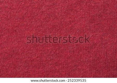 red woolen background - stock photo