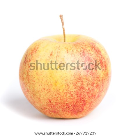 Red yellow apple isolated on white background - stock photo