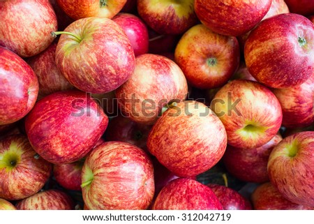 Red yellow apples