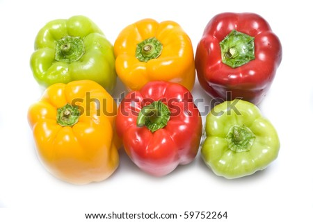 red,yellow,green peppers