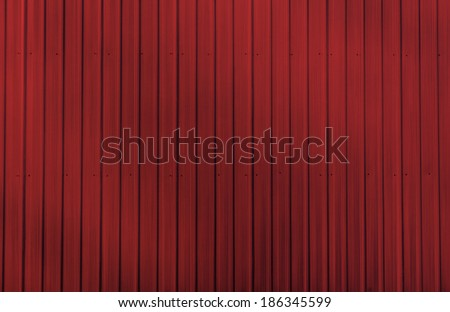 Red zinc wall - stock photo