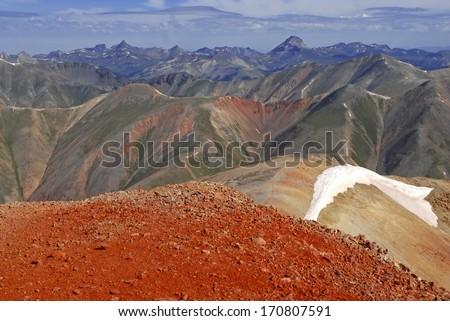 Redcloud Peak, San Juan Mountains, Colorado, Rocky Mountains, USA  - stock photo