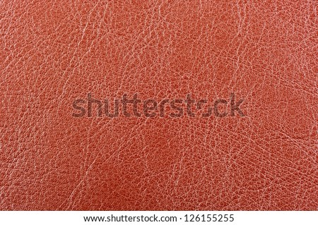 Reddish Brown Leather Background Texture - stock photo