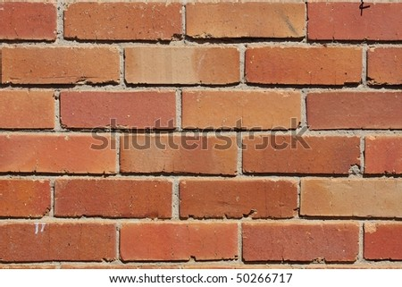 Reddish, orange brick wall