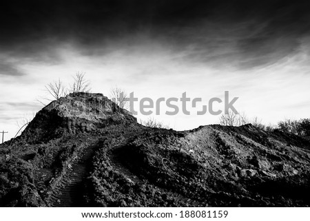 redevelopment landscape at a construction site - stock photo