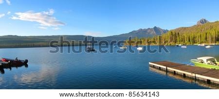 Redfish Lake in Idaho - stock photo