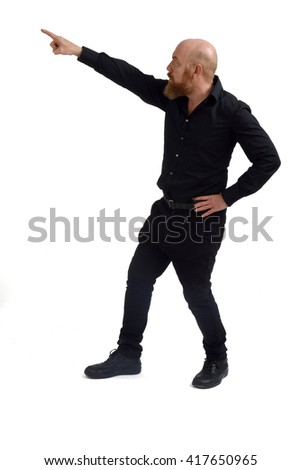 Redheaded man isolated with white background, - stock photo