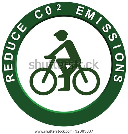 Reduce Carbon Emissions Pushbike - stock photo