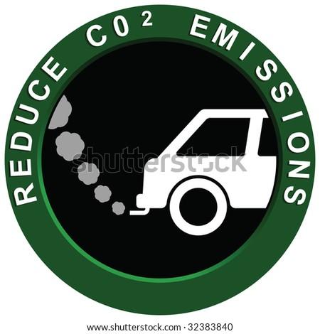 Reduce Carbon Emissions Vehicle - stock photo