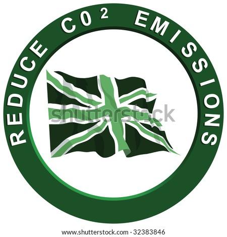 Reduce Carbon United Kingdom - stock photo