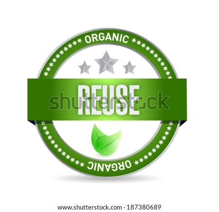 reduce organic seal illustration design over a white background