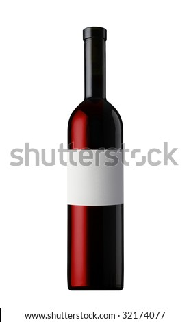 Redwine bottle - stock photo