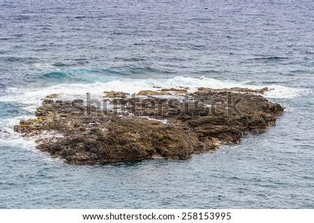 Reefs near the Easter Island - stock photo