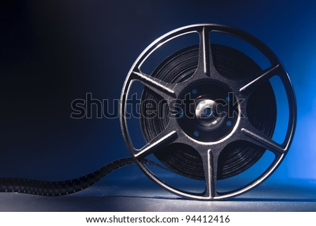 reel of 8mm motion picture film - stock photo