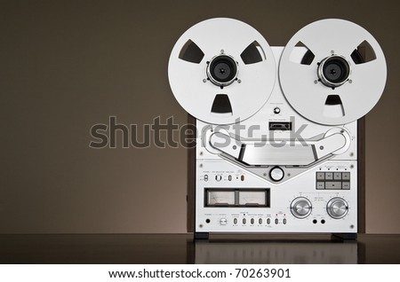 Reel-to-reel Stereo Recorder Deck - stock photo
