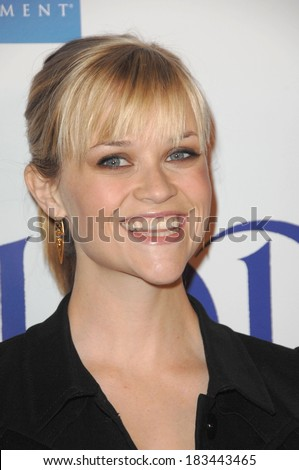 Reese Witherspoon at LA Premiere of PENELOPE, DGA Director's Guild of America Theatre, Los Angeles, CA, February 20, 2008