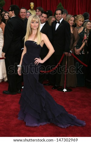 Reese Witherspoon at the 79th Annual Academy Awards Kodak Theater  Hollywood & Highland Hollywood, CA February 25, 2007 - stock photo