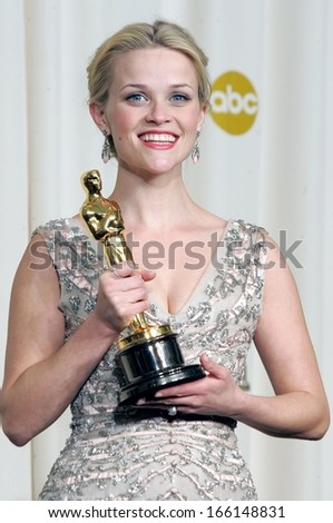 Reese Witherspoon, in a 1955 Christian Dior dress, OSCARS 78th Annual Academy Awards, The Kodak Theater, Los Angeles, Sunday, March 05, 2006 - stock photo