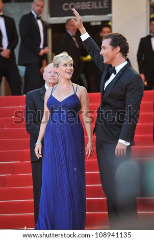"Reese Witherspoon & Matthew McConaughey at the gala screening of their new movie ""Mud"" in competition at the 65th Festival de Cannes. May 26, 2012  Cannes, France Picture: Paul Smith / Featureflash"