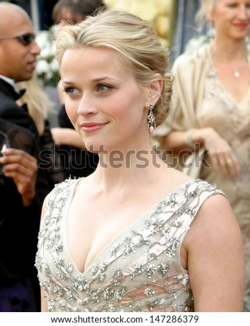 Reese Witherspoon 78th Academy Award Arrivals Kodak Theater Hollywood, CA March 5, 2006 - stock photo