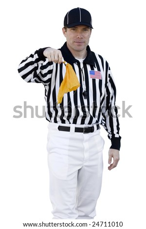 Referee Calling a foul - stock photo