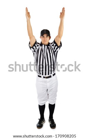 Referee: Official Signals For A Touchdown