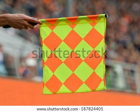 Referee's flag - stock photo