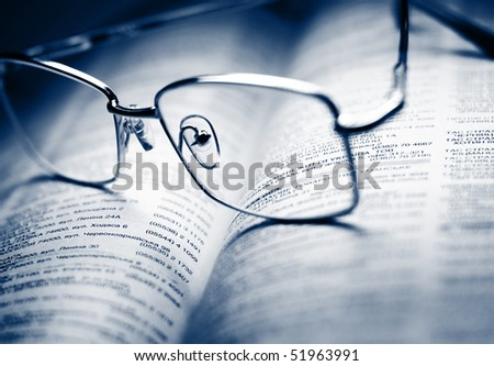 Reference book - stock photo