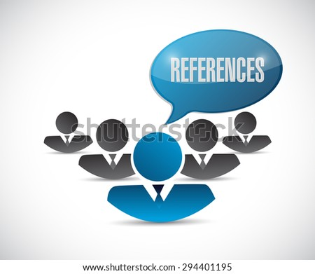 references people sign concept illustration design graphic - stock photo