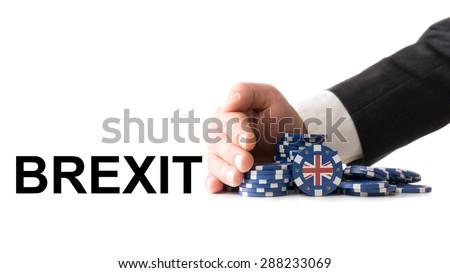 Referendum 2017, Great Britain leaves the eurozone - stock photo