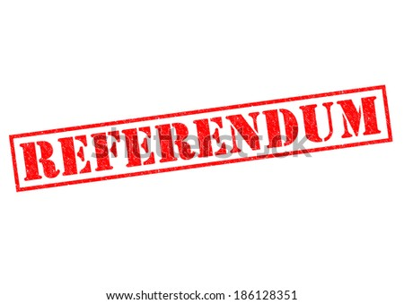 REFERENDUM red Rubber Stamp over a white background. - stock photo