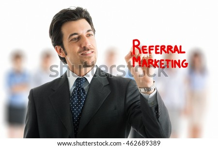 Referral marketing concept