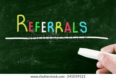 referrals concept - stock photo