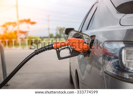 Refill and filling Oil Gas Fuel at station